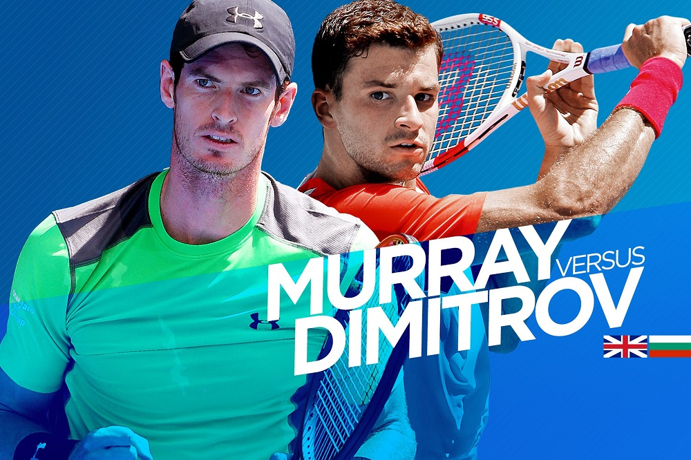 Grigor Dimitrov vs Andy Murray two years later at 2016 US Open tennis images