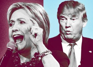 hillary clinton vs donald trump debate 1 highlights 2016 images
