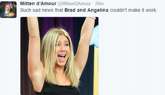jennifer aniston celebrates brad pitt divorce