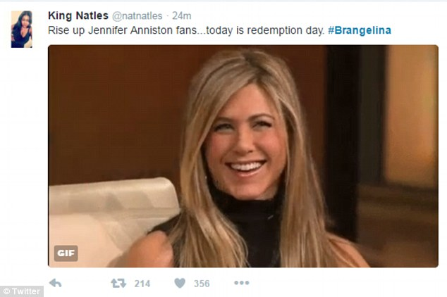 jennifer aniston rise up over brad pitt meme
