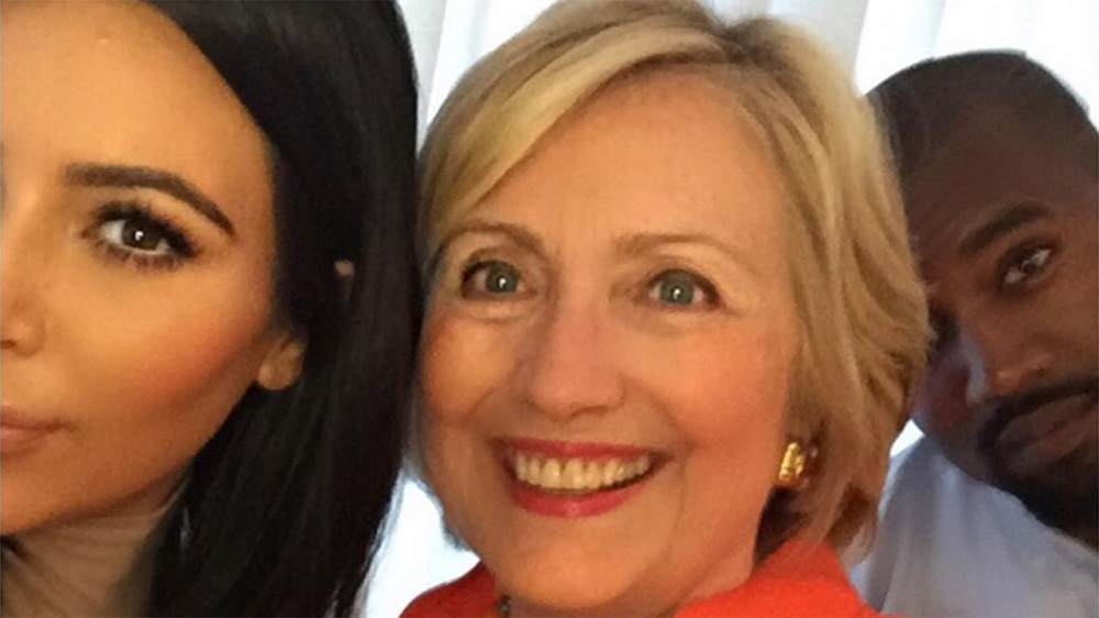 Kim Kardashian switches from Donald Trump back to Hillary Clinton 2016 images