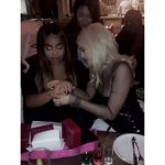 kylie giving bday gift