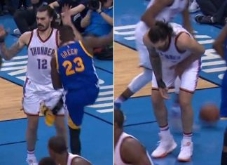 nba keeping groins safe with draymond green rule this season 2016 images