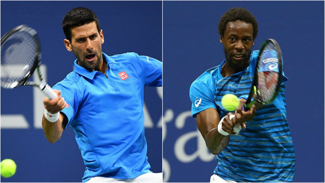 novak djokovic beats a baffling gael monfils 2016 us open tennis images