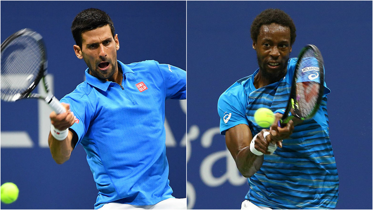 Novak Djokovic beats a baffling Gael Monfils: 2016 US Open tennis images