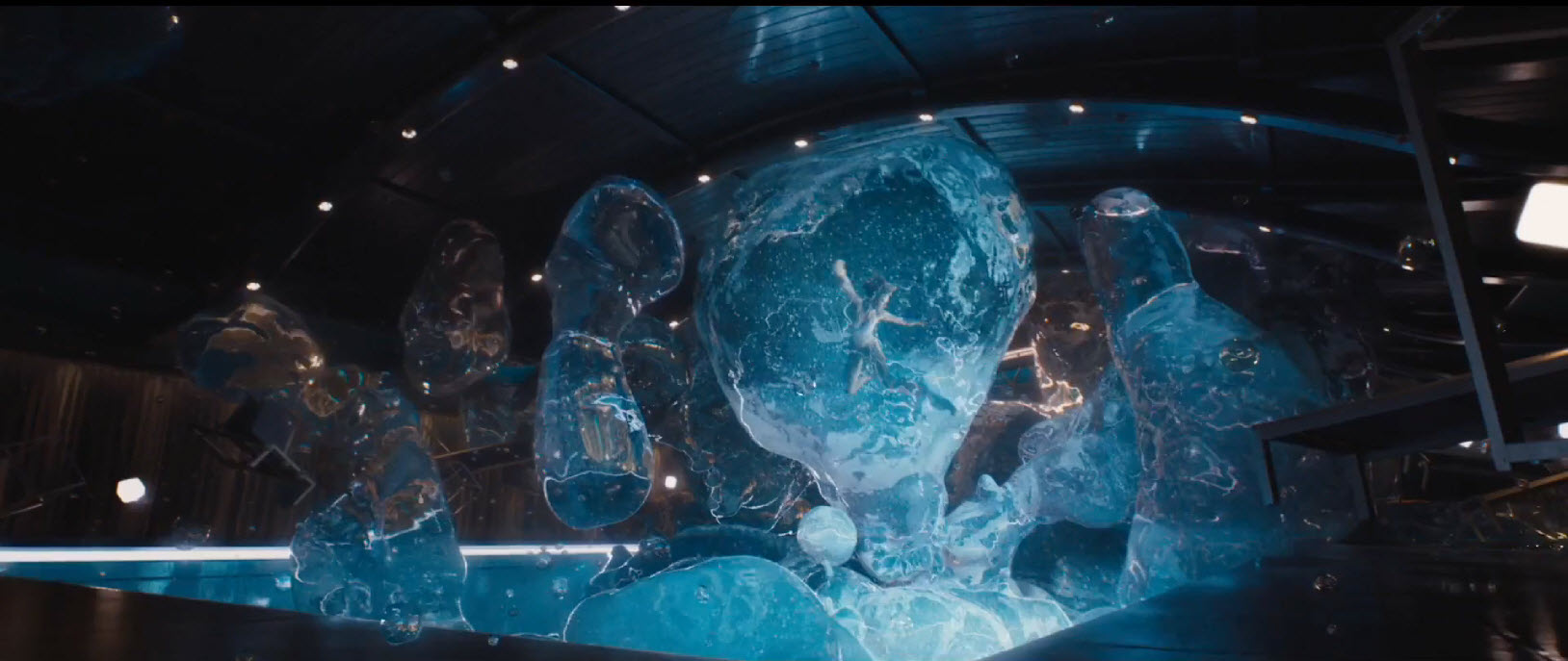 passengers jennifer lawrence water bubble swim