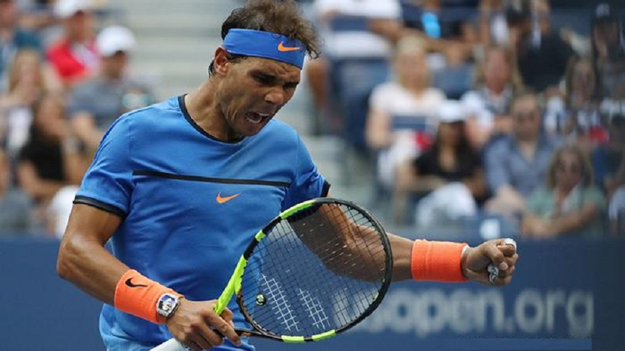 rafael nadal knocked out of us open by lucas pouille bulge 2016 images