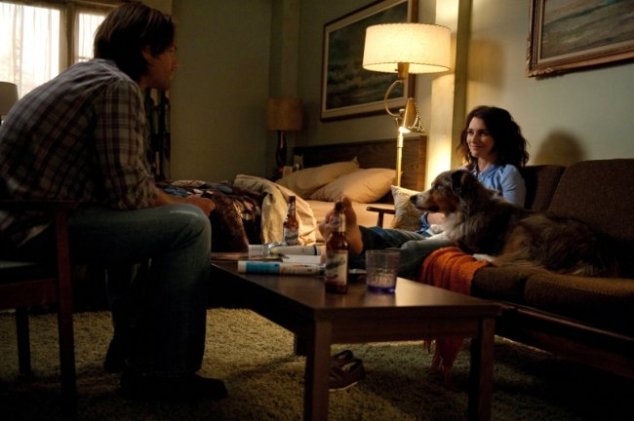 sam winchester with amelia dog supernatural