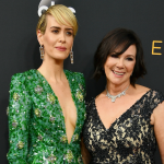 sarah paulson with marcia clark at emmys