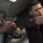 supernatural winchester boys shooting off images