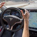 tesla autopilot driving