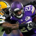 Vikings Adrian Peterson out with knee injury