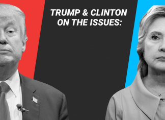 Hillary Clinton and Donald Trumps stance on 36 big issues 2016 images