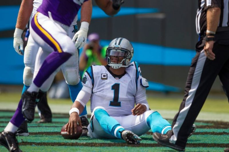 cam newton concussion panthers