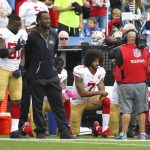 colin kaepernick kneels for anthem 49ers vs bills