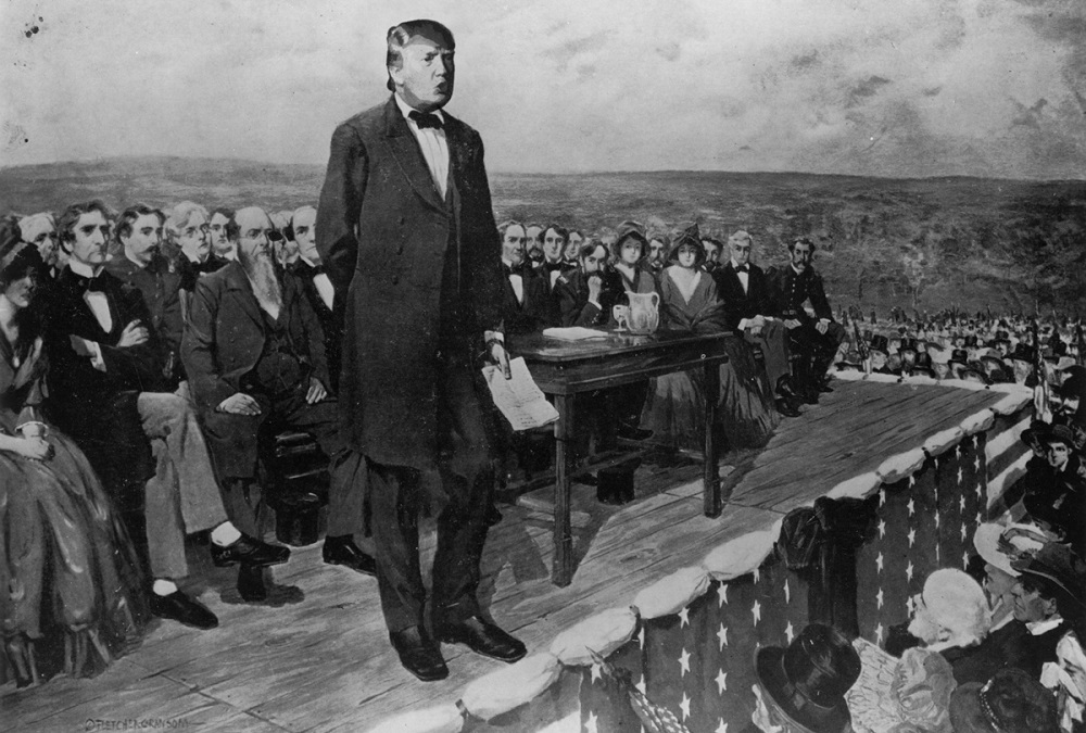 donald trump goes gettysburg for his hundred day plan 2016 images