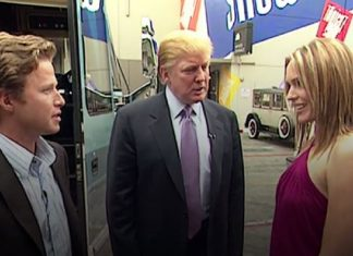 donald trumps gift to billy bush a suspension from today 2016 images