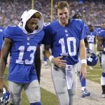 Eli Manning not so happy with Odell Beckham Jr.