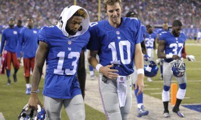 eli manning not so happy with odell beckham jr 2016 images