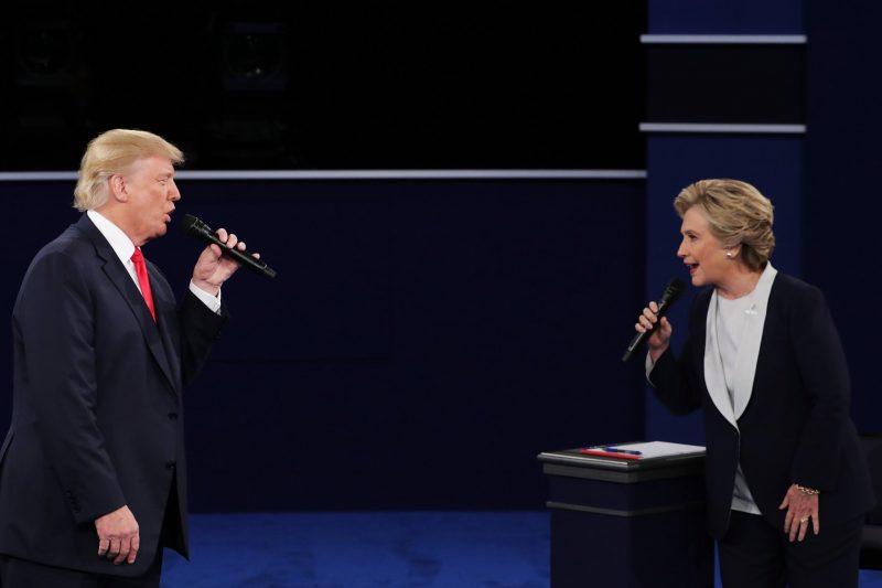 hillary clinton taking on donald trump debate