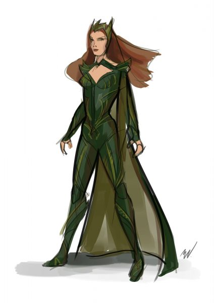 justice league mera sketch image 2016 amber heard