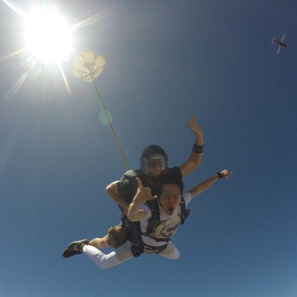 justin chon skydiving