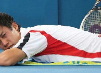 kei nishikori injury problems continue at atp tokyo