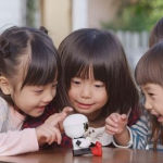 kirobo mini with kids