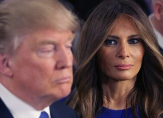 melania trump does her wifely duty for donald 2016