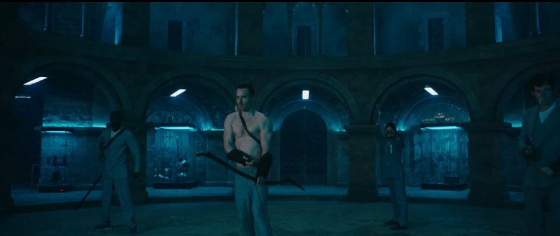 michael fassbender shirtess assassins creed