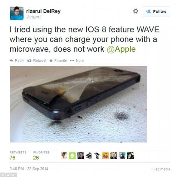 microwave apple phone ios8
