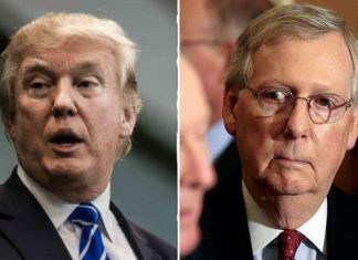 mitch mcconnell does a donald trump blackout 2016 images