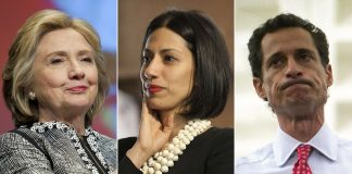 now anthony weiner sticks it to hillary clinton with FBI 2016 images