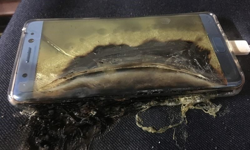 samsung note 7 burn up images