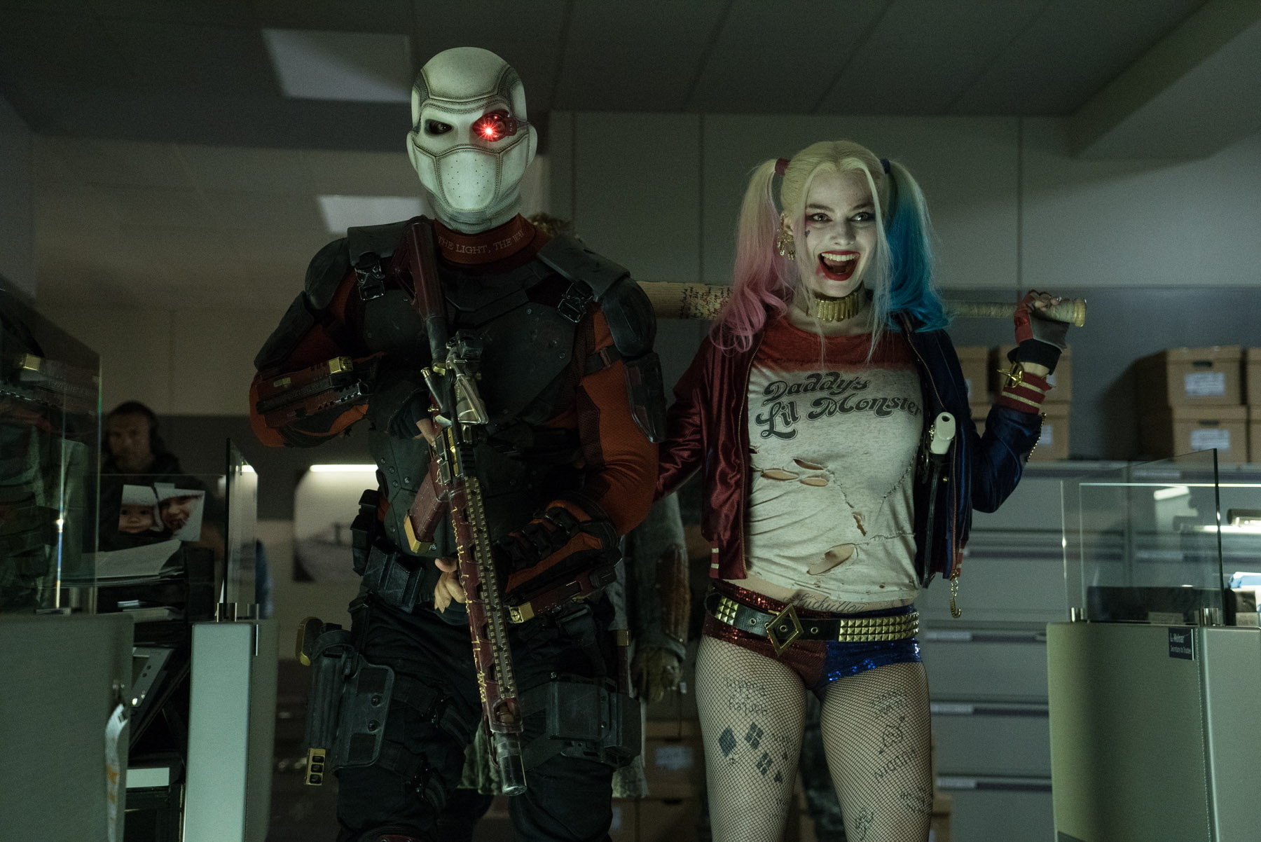 suicide squad will smith deadshot margot robbie harley quinn