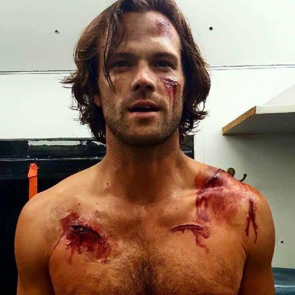 supernatural jared padalecki shirtless bloody