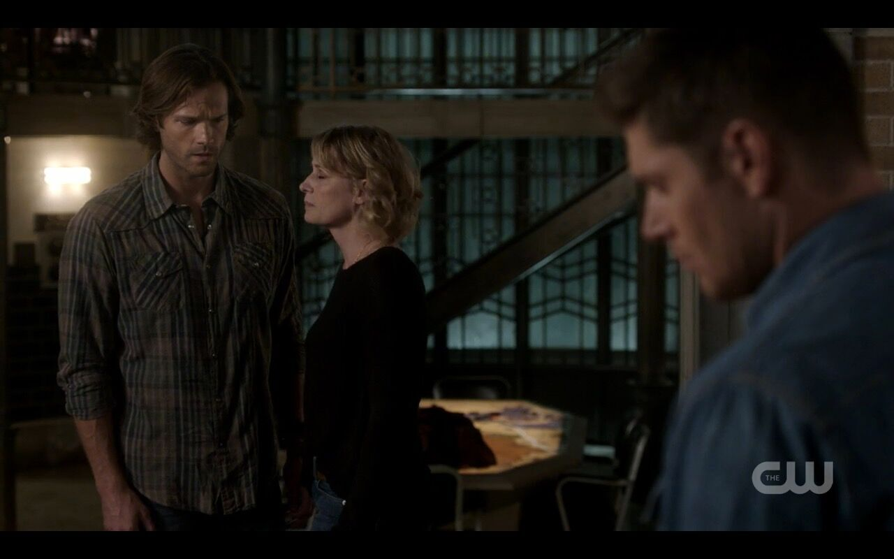 supernatural sam winchester slouch with mary dean