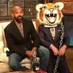 talking dead chris harwick with negan in tiger head