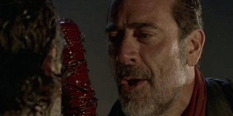 the walking negan with bloody lucille