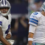 tony romo watches on sideline as dak prescott brings victory to cowboys
