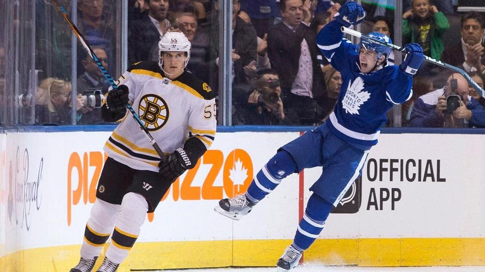 Toronto Maple Leafs burn the Boston Bruins 4-1 2016 images
