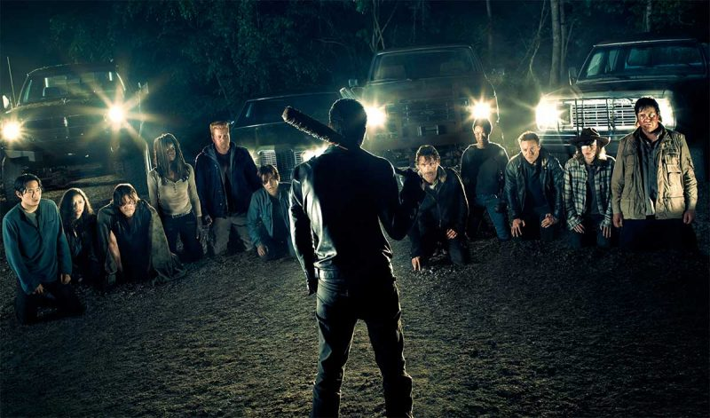 walking dead cast with negan and lucille