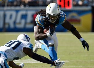 DraftKings Perfect Lineup for Week 9 NFL melvin gordon only sure thing 2016 images