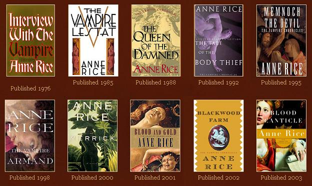 anne rice vampire chronicle books