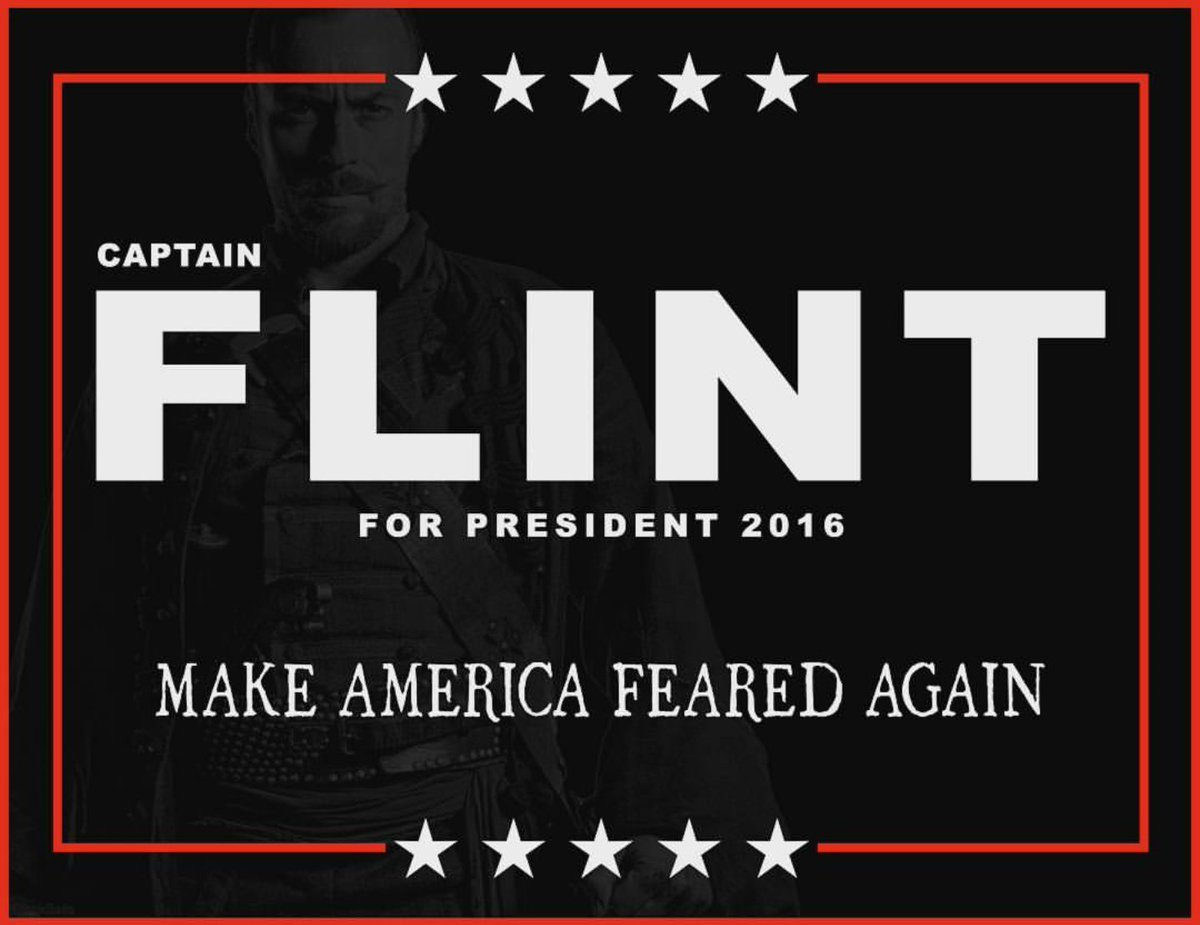 black sails captain flint for president