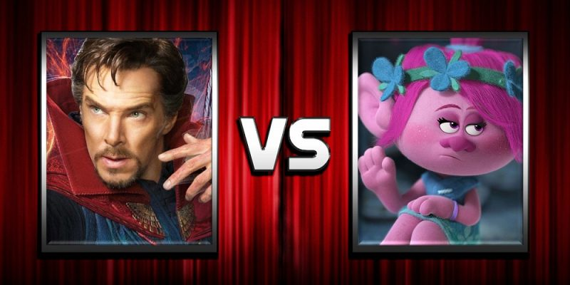 doctor strange vs trolls at box office
