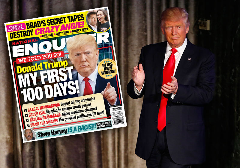 donald trump has unleashed his first 100 day plans video 2016 images