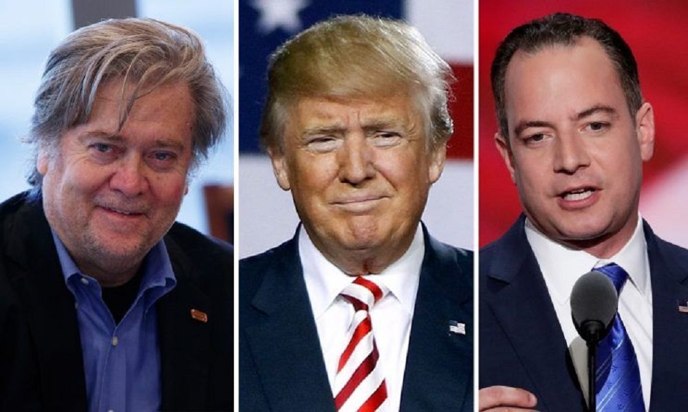 Donald Trump adds Reince Priebus with Stephen Bannon plus 60 Minutes 2016 images