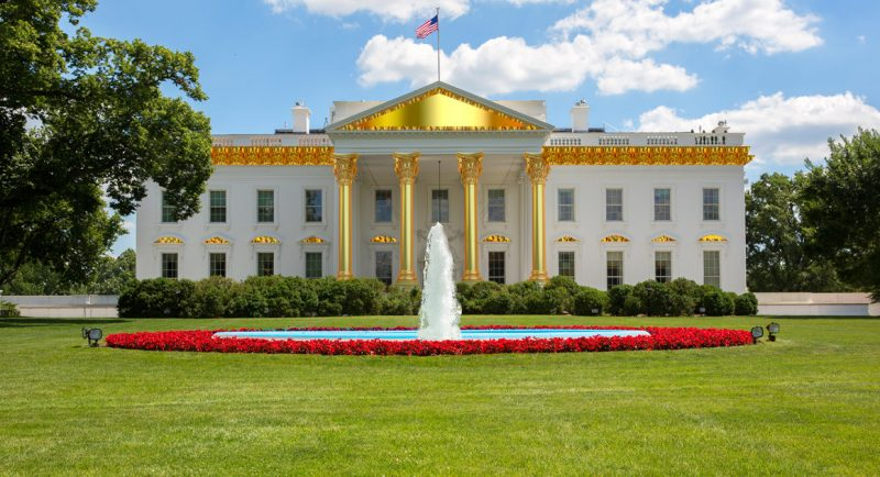donald trump golden white house