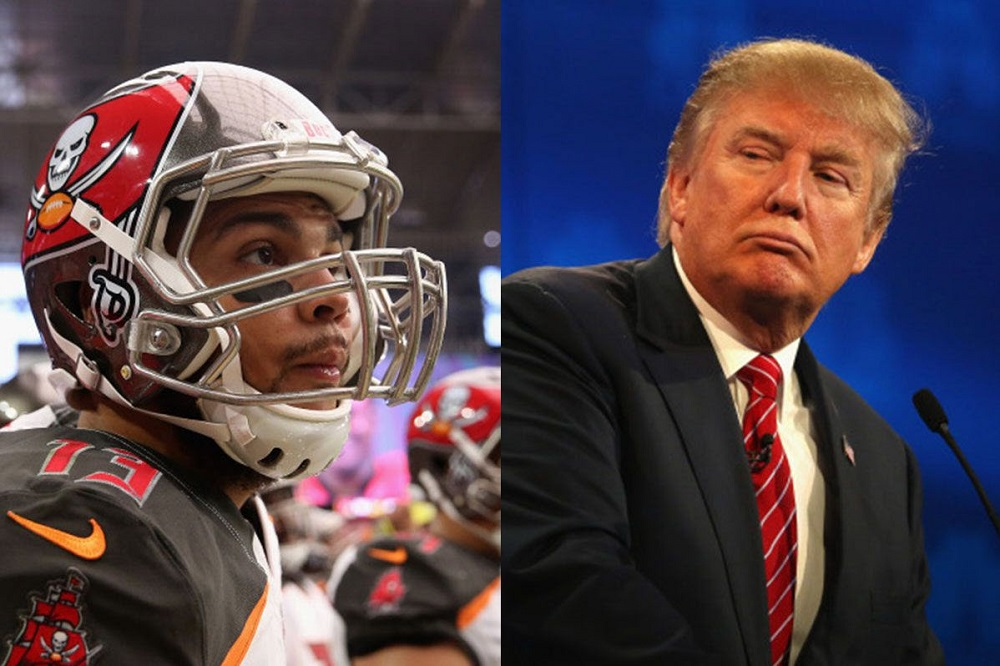 donald trump inspires buccaneers mike evans protest 2016 images